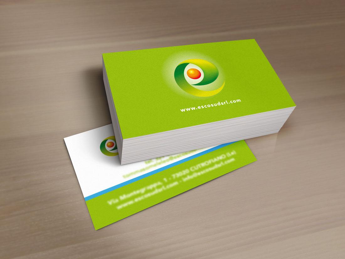 Escosud Sistemi per il risparmio energetico - bigliettini da visita